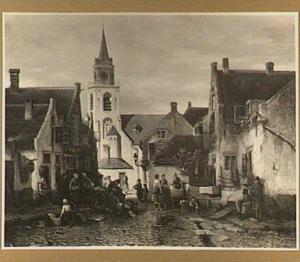 Gezicht in Scheveningen, de Torenstraat, na een regenbui