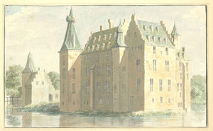 Kasteel Doorwerth aan de achterzijde