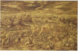 Landschap met de slag bij Oosterweel in 1567