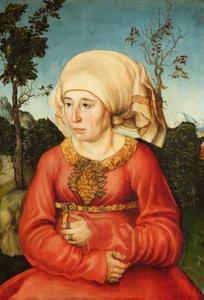 Portret van de vrouw van een rechtsgeleerde
