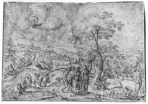 Abram [Abraham] en Lot nemen afscheid van elkaar en gaan elk huns weegs (Genesis 13:1-13)