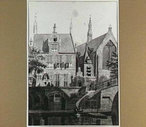 Gefantaseerd stadsgezicht met Utrechtse werf