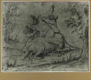 Dronken Silenus op liggende ezel