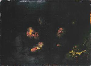 Vier Kapucijner monniken