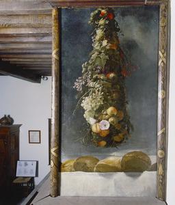 Hangende bloemen-en vruchtentros