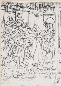 De H. Giovanni Gualberto geneest de overvallen monniken van S. Salvi