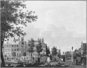 Amsterdam, de Prinsengracht bij de Spiegelstraat met geheel links de Hoogduitsche Apotheek