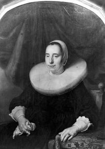 Portret van de vrouw van een man genaamd Van der Poel, burgemeester van Amsterdam