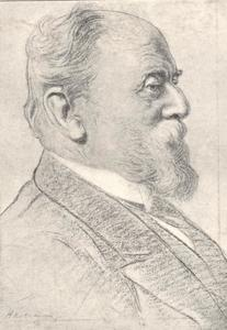 Portret van Samuel van Houten
