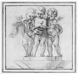 Drie musicerende putti
