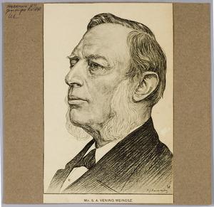 Portret van mr. S.A. Vening Meinesz