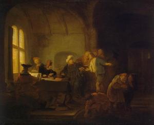 De gelijkenis van de arbeiders in de wijngaard: de werkers van het elfde uur krijgen dezelfde beloning als de werkers van het eerste uur  (Mattheus 20: 1-16)
