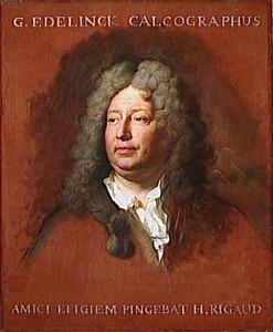 Portret van de graveur Gerard Edelinck