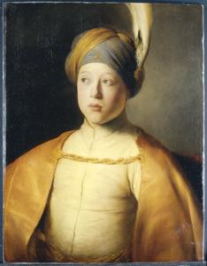 Portret van een onbekend jongeman in Oosters kostuum