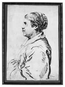 Portret van een vrouw ten halven lijve