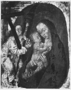 Maria met Kind en een engel met de werktuigen van de Passie