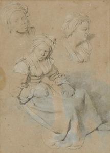 Drie studies van een vrouw