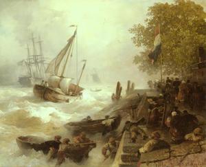 Terugkeer naar de haven bij ruwe zee