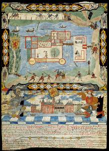 Plattegrond en opstand van kasteel Brederode