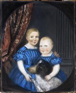 Portret van twee onbekende kinderen`