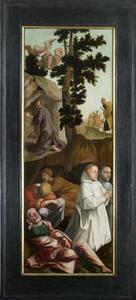 Christus in de Hof van Olijven en twee Kartuizer stichters