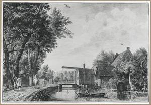 De ophaalbrug over de Angstel te Baambrugge
