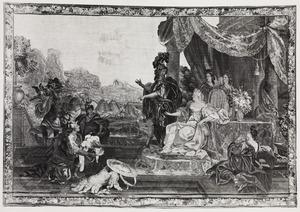 Oriane ontvangt de krijgsbuit van Amadis in koning Lisuarts kasteel
