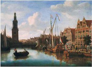 Het Singel te Amsterdam met de Jan Rodenpoortstoren