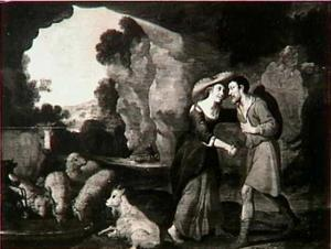 Jacob kust Rachel en is tot tranen toe geroerd (Genesis 29:9-11)