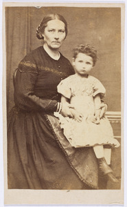 Portret van Louise Josephina de Both (1827-1910) en Joanna Jacoba Francisca Malmberg (1868-1920)