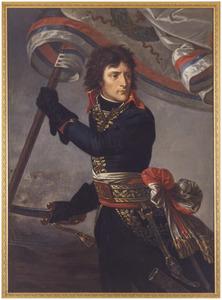 Portret van Napoleon Bonaparte (1769-1821) op de brug van Arcole