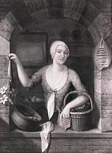 Visverkoopster