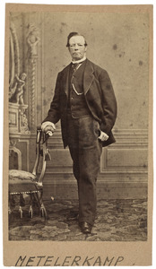 Portret van Rutger Johannes Cornelis Metelerkamp (1810-1872)
