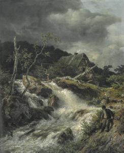 Bergbeek met visser
