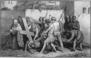 Kruisweg, zevende statie, Christus valt voor de tweede maal onder het kruis