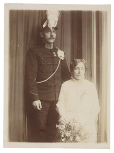 Portret van Johannes Wilhelmus Mulder (1882-...) en Cornelia Donkersloot (1892-...)