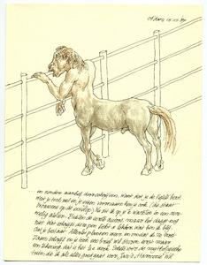 Brief aan Saïda met tekening van een centaur