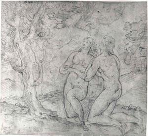 God verbiedt Adam en Eva te eten van de boom der kennis