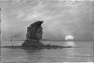 Reis van Suez naar Nagasaki via Oost-Indië: Klip in het Meer van Simabarra