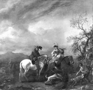 Landschap met jagers