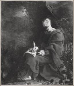 Johannes schrijft het boek Openbaringen op Pathmos (Openbaring I:9-20)