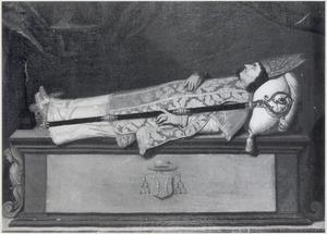 Portret Johannes Baptista van Neercassel (1623-1686) op zijn doodsbed