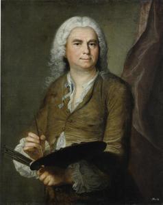 Portret van de kunstenaar Johann Alexander Thiele (1685-1752)