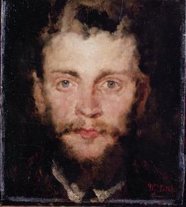 Portret van de kunstenaar Johann Sperl (1840-1914)