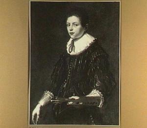 Portret van een onbekende jongen met schilderspalet