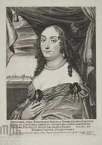 Portret van Maria Ludwiga Gonzaga, koningin van Polen (1611-1667)