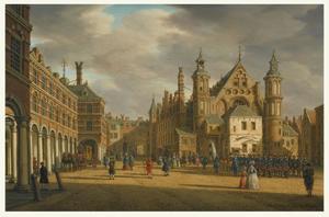 Het Binnenhof met de Ridderzaal in Den Haag
