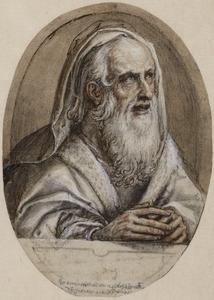 Manlijk halffiguur uit Oude of Nieuwe testament, in een ovaal