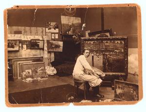 Raoul Hynckes in zijn atelier
