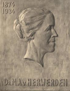 Portret van Maria Anne van Herwerden (1874-1934)